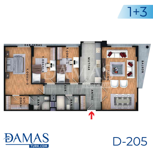 Damas Project D-205 in Istanbul - Floor plan picture  05