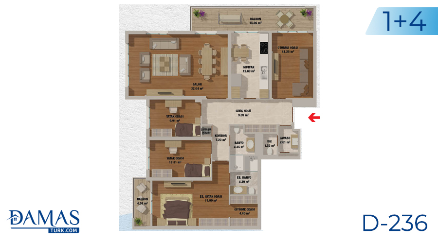 Damas Project D-236 in Istanbul - Floor plan picturer  05