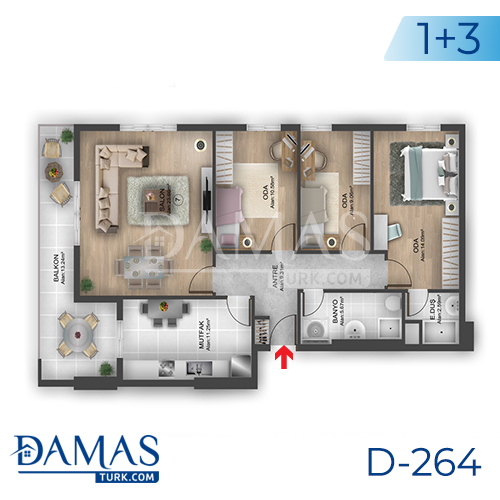 Damas Project D-264 in Istanbul - Floor plan picture 05