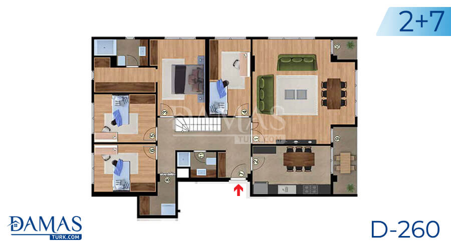 Damas Project D-260 in Istanbul - Floor plan picture 05