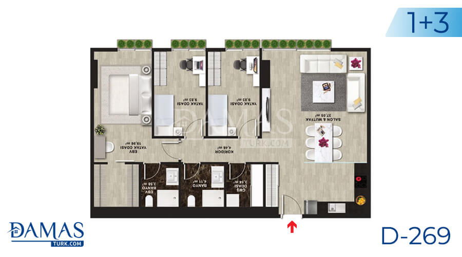 Damas Project D-269 in Istanbul - Floor plan picture 05