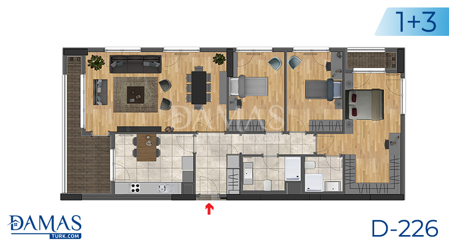 Damas Project D-226 in Istanbul -Floor plan picture  05