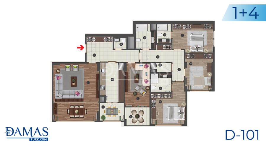 Damas Project D-101 in Istanbul - Floor plan picture 05