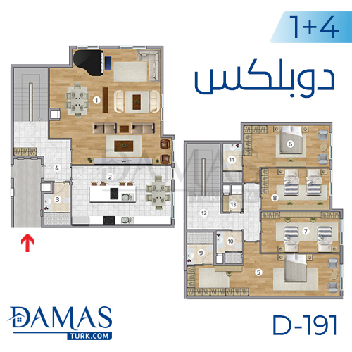 Damas Project D-191 in Istanbul - Floor plan picture  05