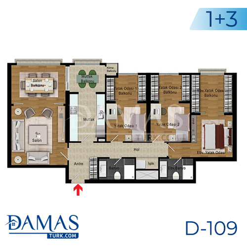Damas Project D-109 in Istanbul - Floor plan picture 05