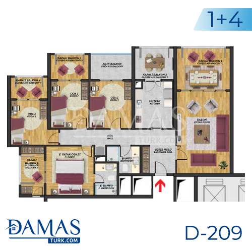 Damas Project D-209 in Istanbul - Floor plan picture  05