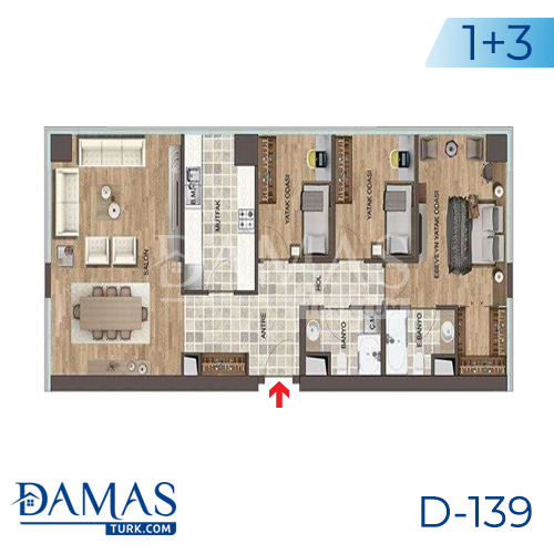 Damas Project D-139 in Istanbul - Floor plan picture 05
