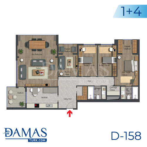 Damas Project D-158 in Istanbul - Floor plan picture 05