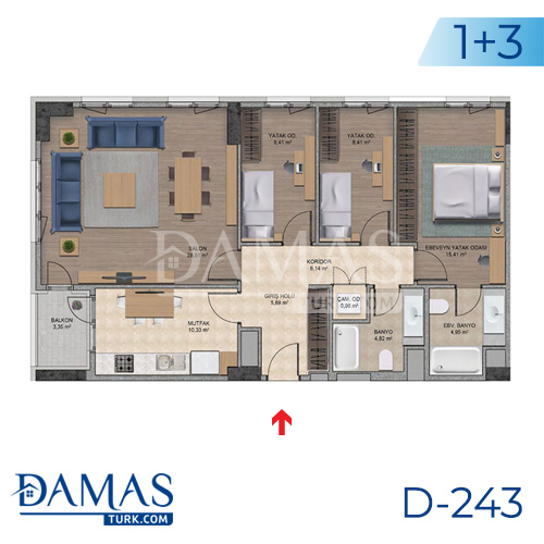 Damas Project D-243 in Istanbul - Floor plan picture  05