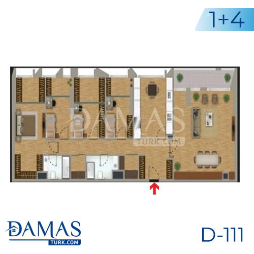 Damas Project D-111 in Istanbul - Floor plan picture 05