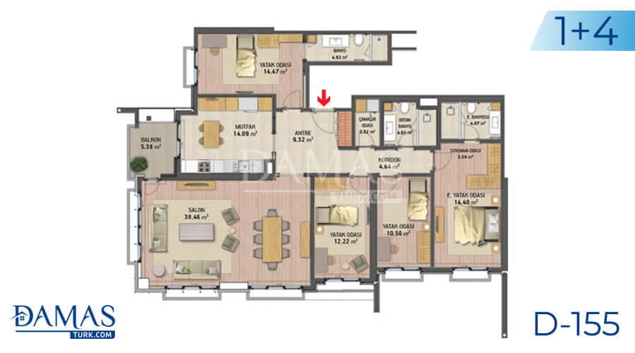 Damas Project D-155 in Istanbul - Floor plan picture 05