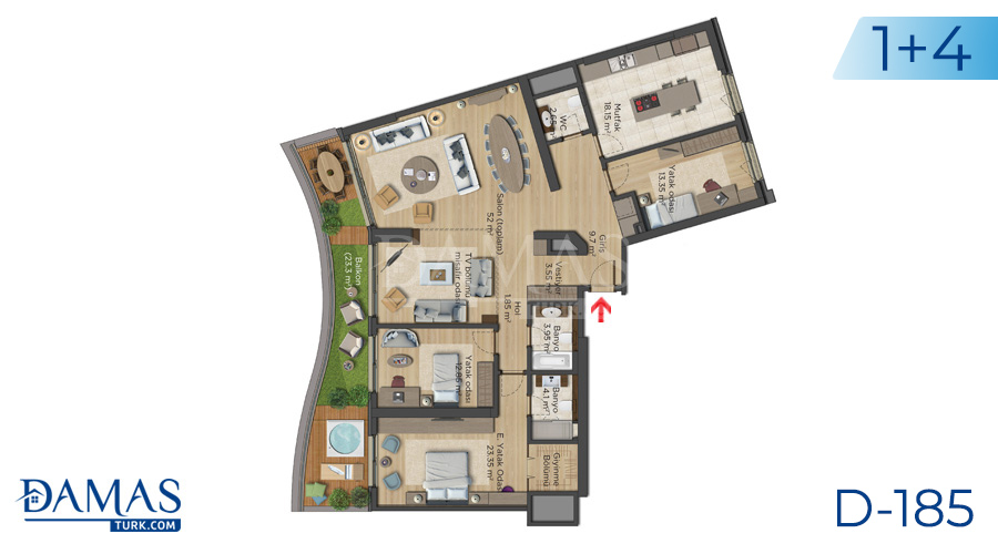 Damas Project D-185 in Istanbul - Floor plan picture  05