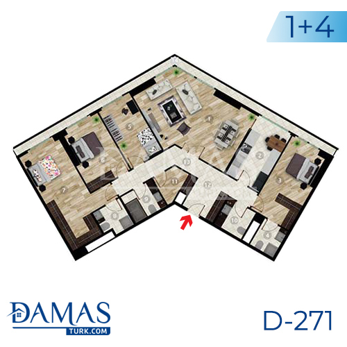 Damas Project D-271 in Istanbul - Floor plan picture 05