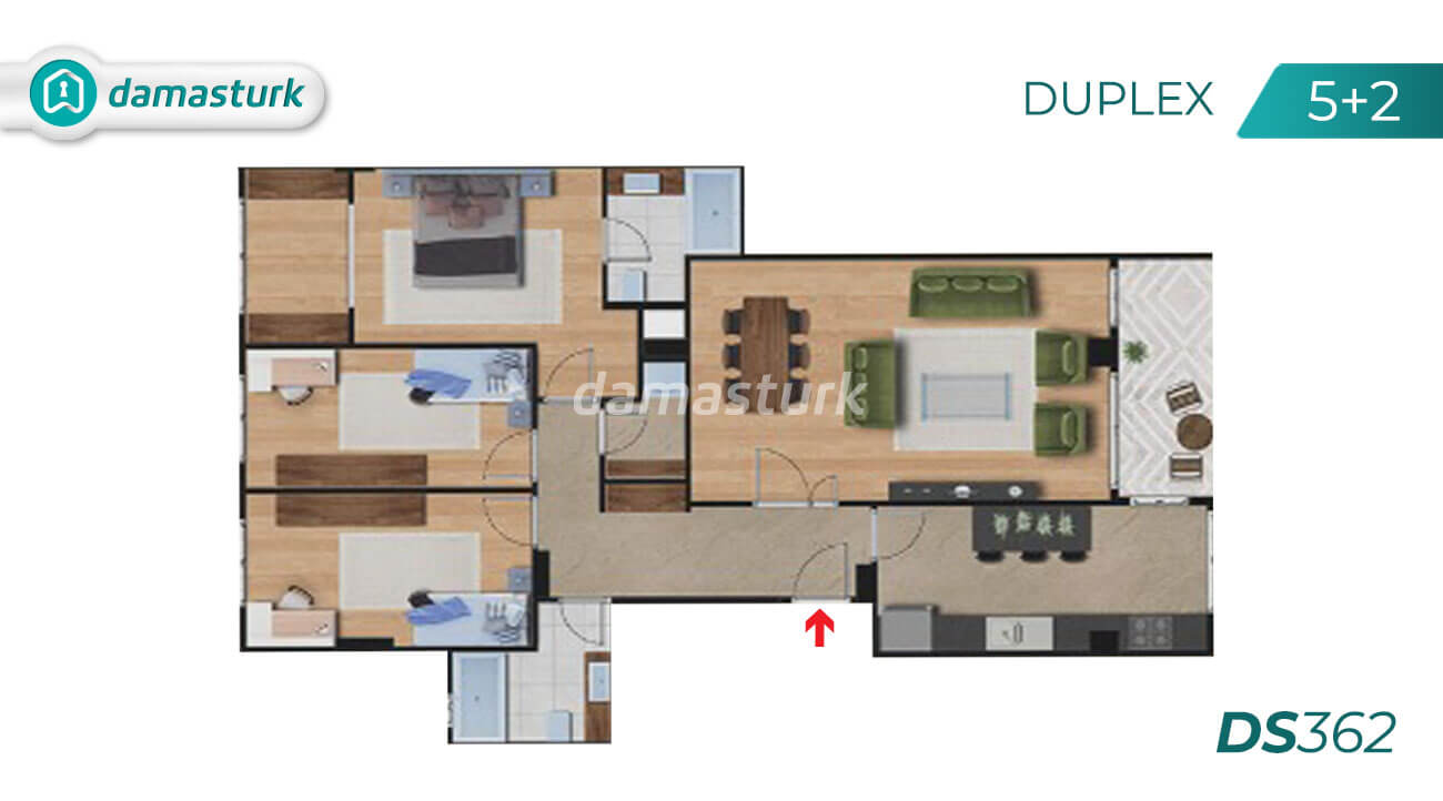 Apartments for sale in Turkey - Istanbul - the complex DS362  || damasturk Real Estate Company 05