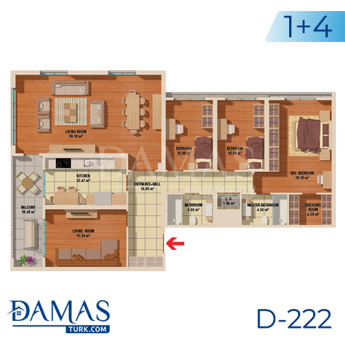 Damas Project D-222 in Istanbul - Floor plan picture  05
