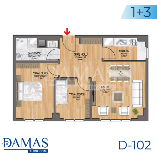 Damas Project D-102 in Istanbul - Floor plan picture 05