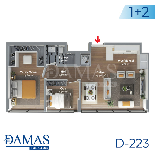 Damas Project D-223 in Istanbul - Floor plan  picture  05