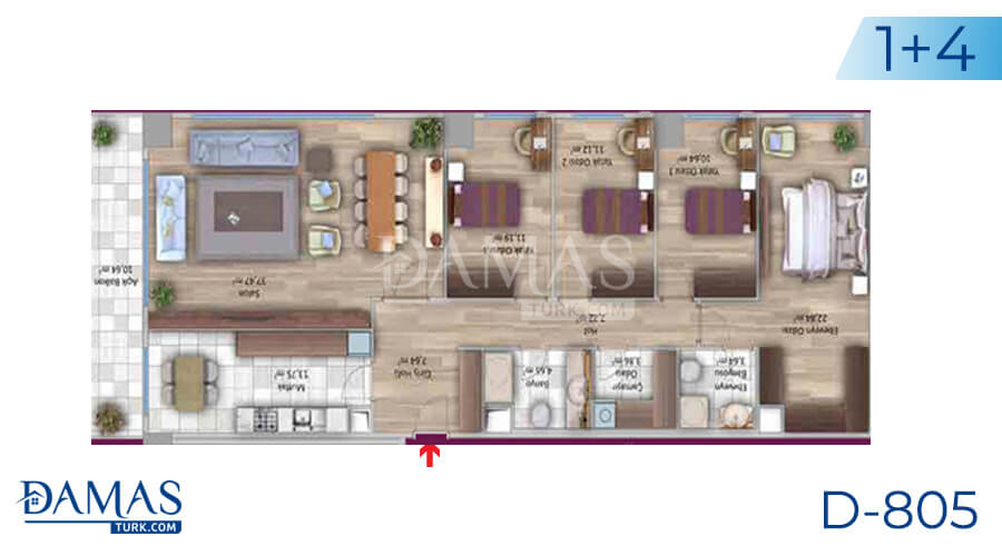 Damas Project D-805 in Istanbul - Floor plan picture 05