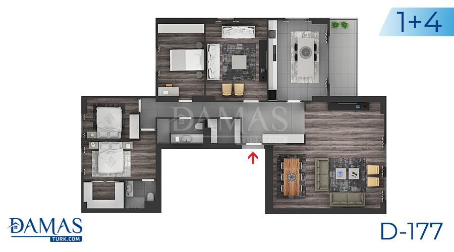 Damas Project D-177 in Istanbul - Floor plan picture  05