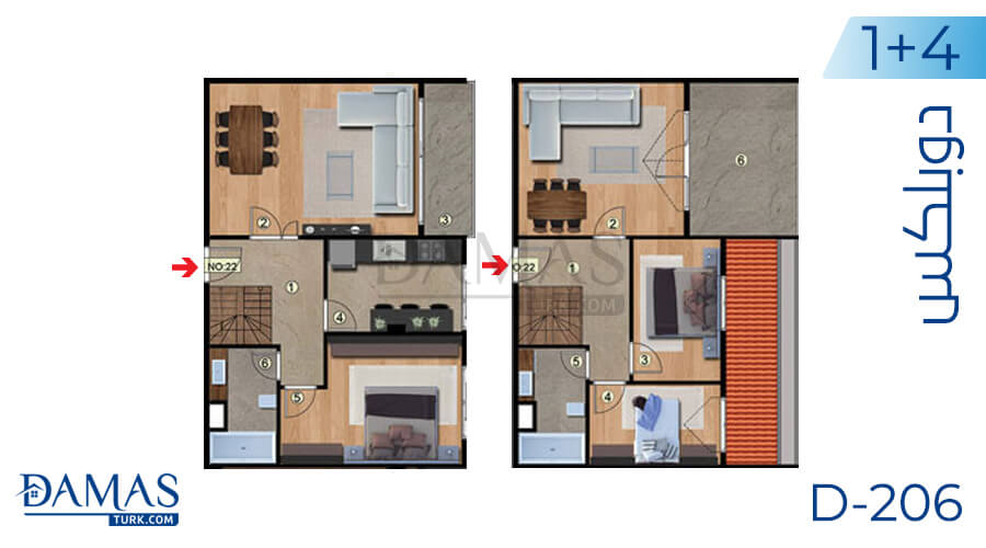 Damas Project D-206 in Istanbul - Floor plan picture 05