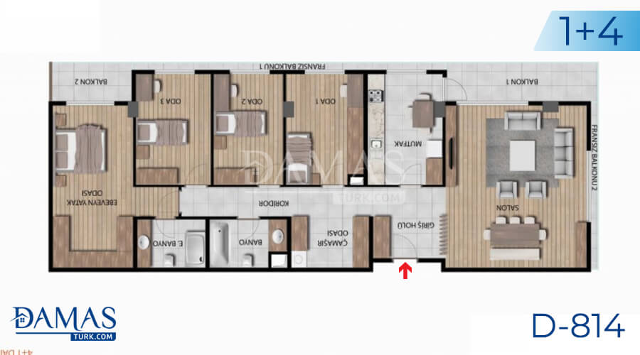 Damas Project D-814 in Istanbul - Floor plan picture 05