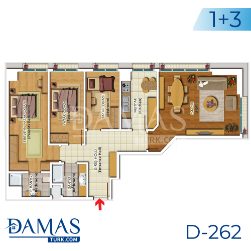 Damas Project D-262 in Istanbul - Floor plan picture 05