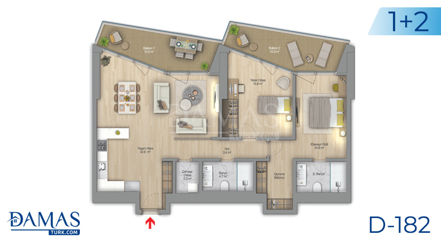 Damas Project D-182 in Istanbul - Floor plan picture  05
