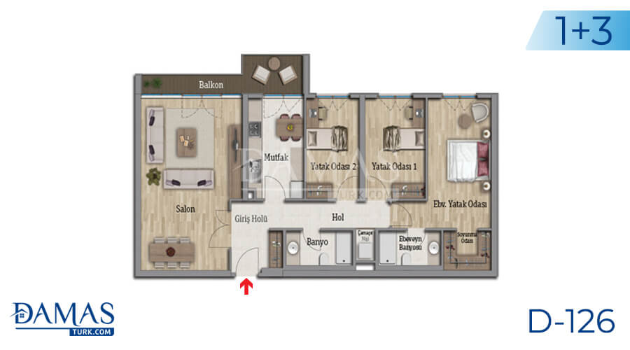 Damas Project D-126 in Istanbul - Floor plan picture 05