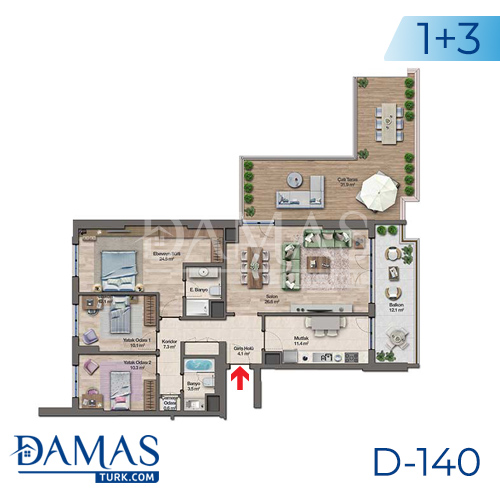 Damas Project D-140 in Istanbul - Floor plan picture 05