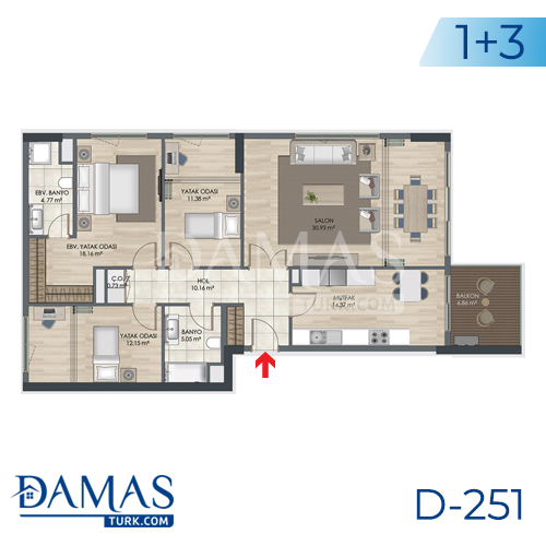 Damas Project D-251 in Istanbul - Floor plan picture 05