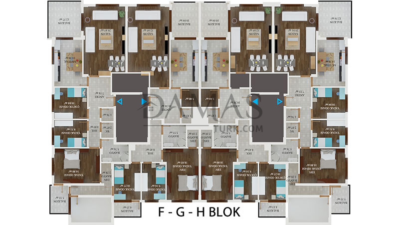Damas 406 Project in Trabzon - Floor Plan 06
