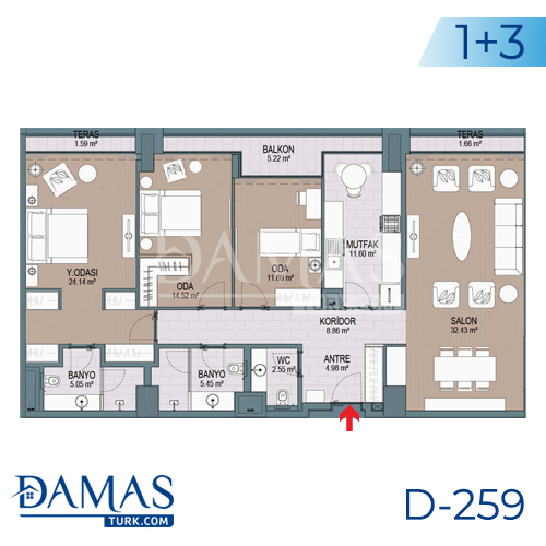 Damas Project D-259 in Istanbul - Floor plan picture 06