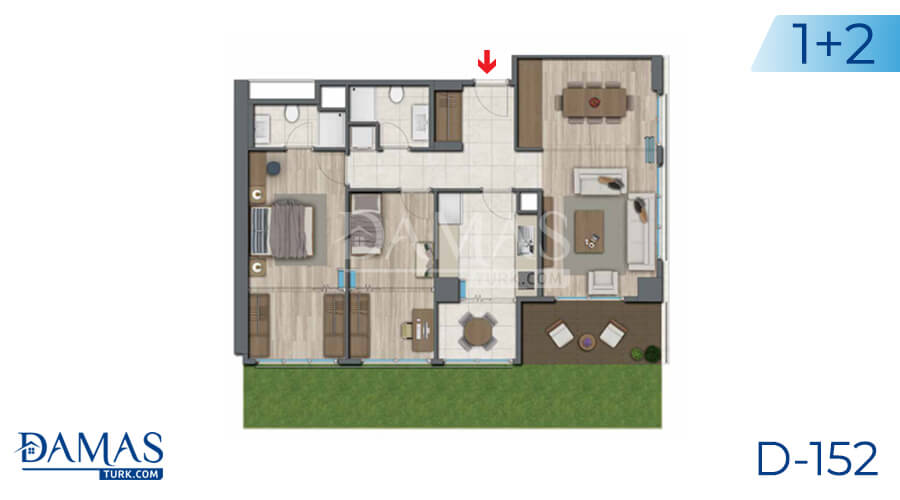 Damas Project D-152 in Istanbul - Floor plan picture 06