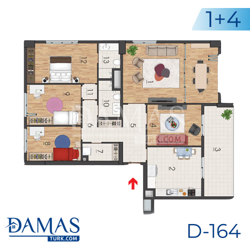Damas Project D-164 in Istanbul - Floor plan picture 06