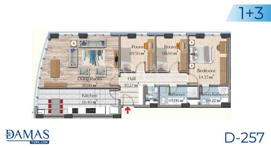 Damas Project D-257 in Istanbul - Floor plan picture 06