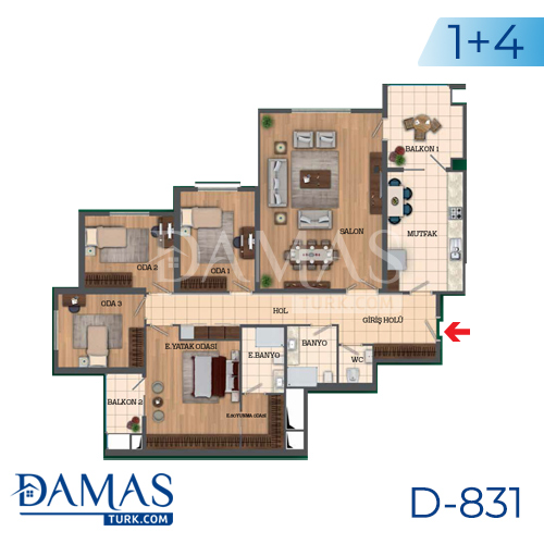 Damas Project D-831 in Istanbul - Floor Plan picture 06