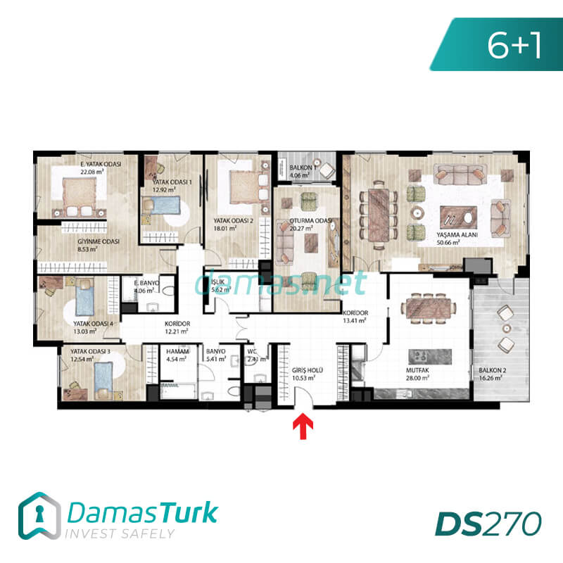 Under construction complex with installment plan in istanbul , basak sehir DS270 || damas.net 03