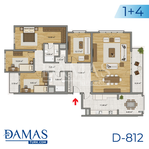 Damas Project D-806 in Istanbul - Floor plan picture 06