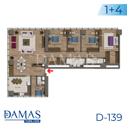 Damas Project D-138 in Istanbul - Floor plan picture 06