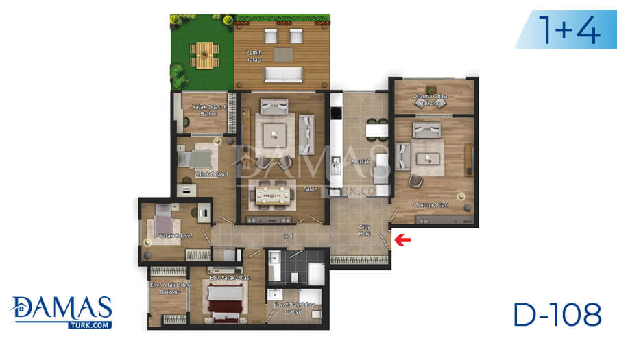 Damas Project D-108 in Istanbul - Floor plan picture 06