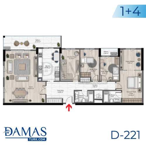 Damas Project D-221 in Istanbul - Floor plan picture  06