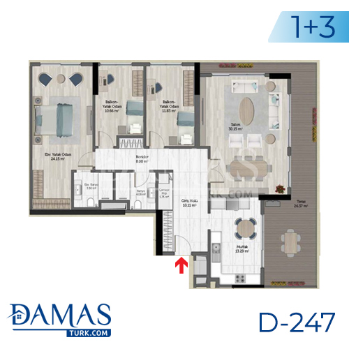 Damas Project D-247 in Istanbul - Floor plan picture 06