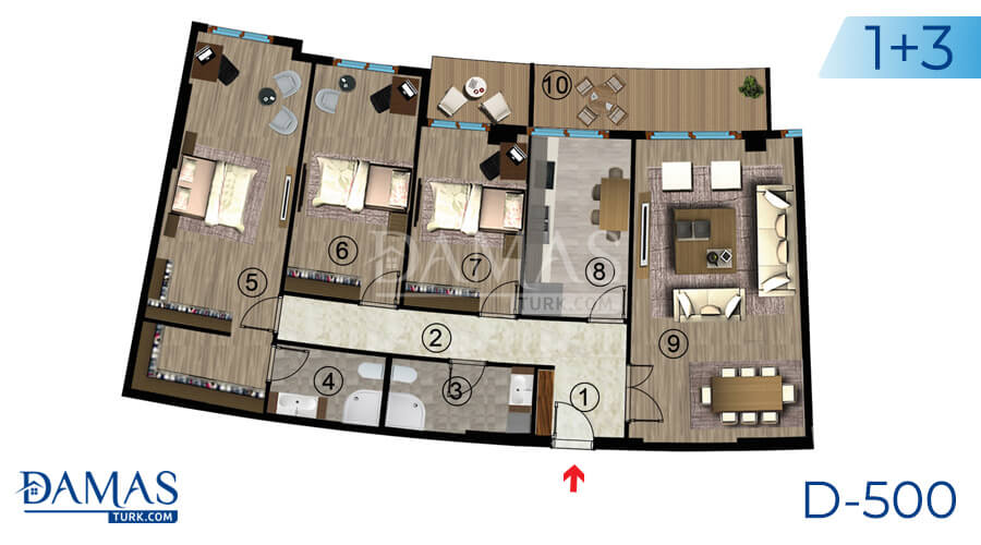 Damas Project D-500 in kocaeli - Floor plan picture  06