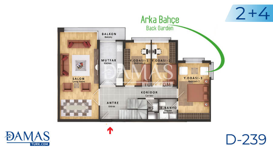 Damas Project D-239 in Istanbul - Floor plan picture  06