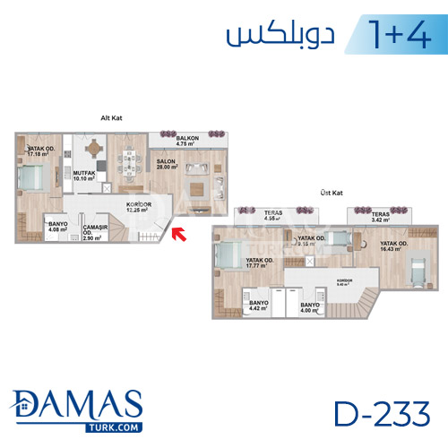 Damas Project D-233 in Istanbul - Floor plan picture  06