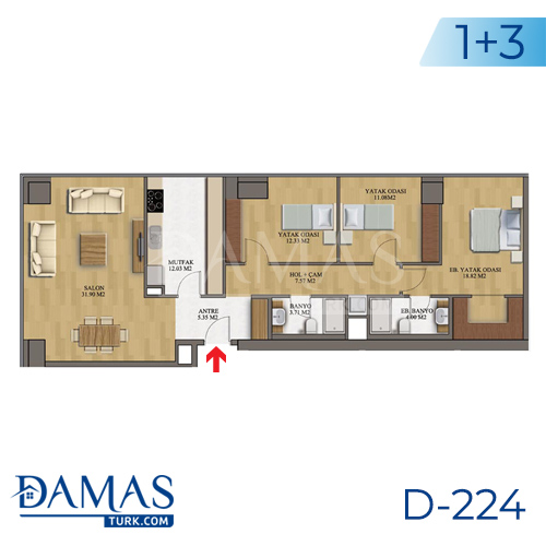 Damas Project D-224 in Istanbul - Floor plan picture  06