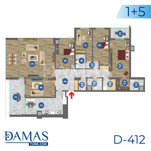 Damas Project D-412 in Trabzon - Floor plan picture 06