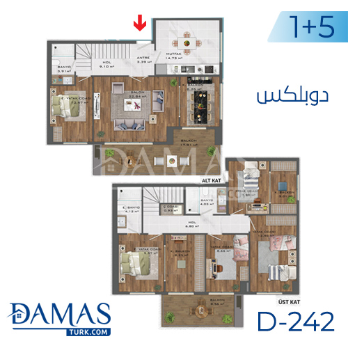 Damas Project D-242 in Istanbul - Floor plan picture  06