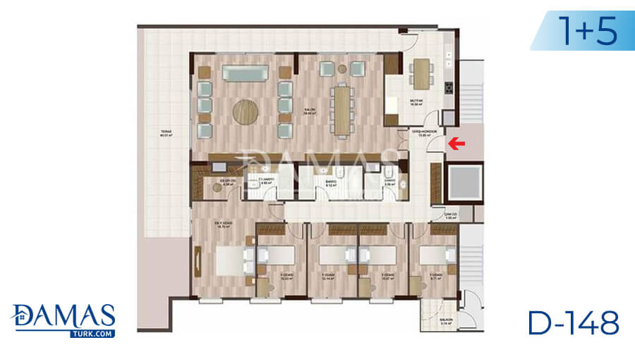 Damas Project D-148 in Istanbul - Floor plan picture 06