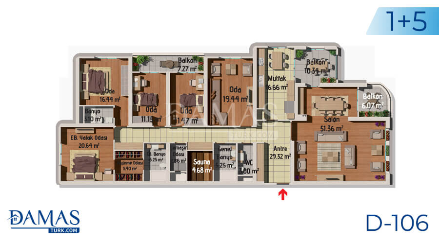 Damas Project D-106 in Istanbul - Floor plan picture 06